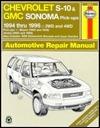 Chevrolet S-10 & Blazer Gmc Sonoma & Jimmy Oldsmobile Bravada Isuzu Hombre: 1994-96 Automotive Repair Manual (Haynes Auto Repair Manuals Series)