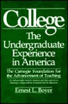 College: The Undergraduate Experience in America, the Carnegie Foundation for the Advancement of Teaching