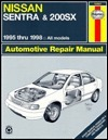 Nissan Sentra & 200Sx Automotive Repair Manual: Models Covered : All Nissan Sentra and 200Sx Models 1995 Through 1998 (Haynes Automotive Repair Manual Series)