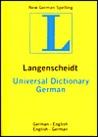 Langenscheidt's Universal German Dictionary: German-English English-German