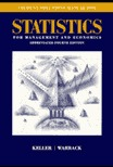 Student Solutions Manual for Statistics for Management and Economics