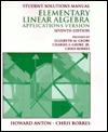 Elementary Linear Algebra: Applications Version : Student Solutions Manual
