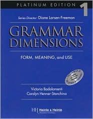 Grammar Dimensions Platinum Book 1