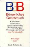 Burgerliches Gesetzbuch: Mit Einfuhrungsgesetz, Beurkundungsgesetz, Agb-Gesetz, Verbraucherkreditgesetz