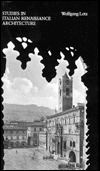 Studies in Italian Renaissance Architecture