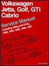 Volkswagen Jetta, Golf, GTI, Cabrio: Service Manual Including Jetta and Golf 1993, 1994, 1995, 1996, 1997