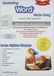 Mastering Word Made Easy v. 2007 through 97 Training Tutorial - Learn how to use Microsoft Word e Book Manual Guide