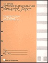 Guitar Tablature Manuscript Paper - Standard: Manuscript Paper