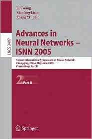 Advances in Neural Networks - Isnn 2005: Second International Symposium on Neural Networks, Chongqing, China, May 30 - June 1, 2005, Proceedings, Part II