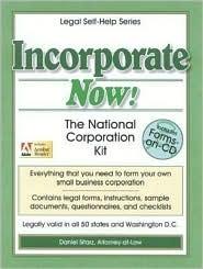 Incorporate Now! by Daniel Sitarz