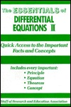 Essentials of Differential Equations, 2
