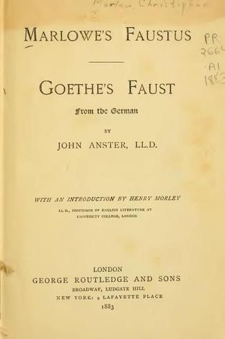 Marlowe's Faustus/Goethe's Faust
