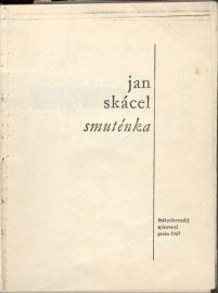 Smuténka by Jan Skácel