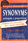 Funk & Wagnalls Standard Handbook of Synonyms, Antonyms and Prepositions.