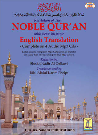 Recitation of the Noble Qur'an with verse by verse English Translation of its Meanings