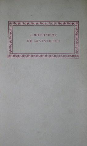 De laatste eer. Grafreden by Ferdinand Bordewijk