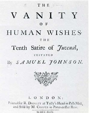 The Vanity of Human Wishes