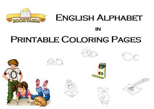 English Alphabet in Printable Coloring Pages