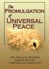 The Promulgation Of Universal Peace: Talks