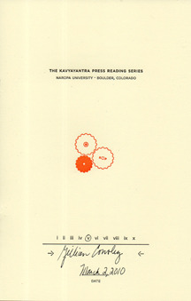 The Kavyayantra Press Reading Series by Gillian Conoley