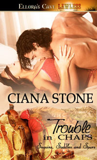 Trouble in Chaps (Sequins, Saddles and Spurs, #3)