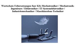 Cd Rom German English Dictionary Mechatronics Mechanical