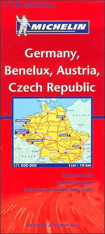 Michelin Germany-Austria-Benelux-Czech Republic Map