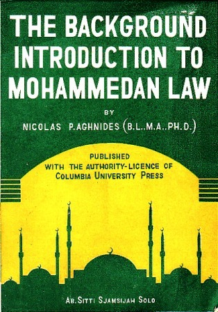 The Background Introduction to Mohammedan Law