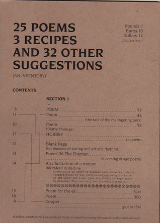 25 Poems, 3 Recipes, And 32 Other Suggestions. (An Inventory)