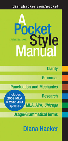 A Pocket Style Manual with 2009 MLA Update by Diana Hacker
