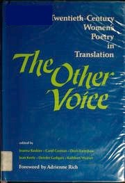 The Other Voice: Twentieth-Century Women's Poetry in Translation