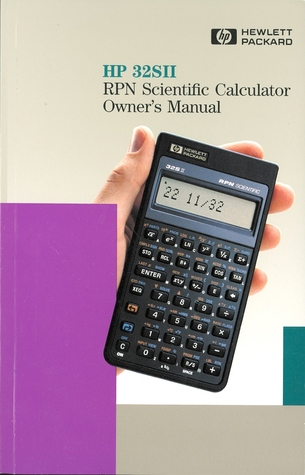 HP 32SII RPN Scientific Calculator Owner's Manual
