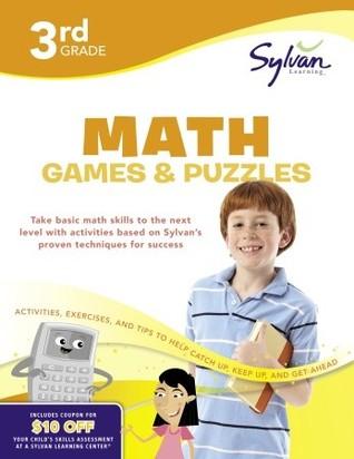 Third Grade Math Games & Puzzles (Sylvan Workbooks)
