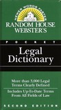 Random House Webster's Pocket Legal Dictionary