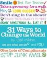 31 Ways to Change the World