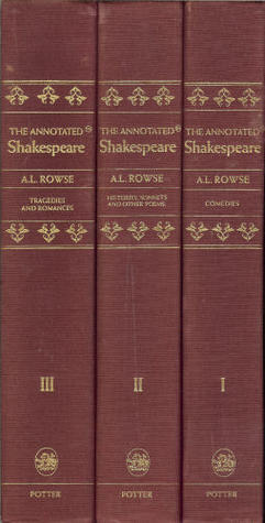The Annotated Shakespeare: The Comedies, Histories, Sonnets and Other Poems, Tragedies and Romances Complete (Three Volume Set in Slipcase)
