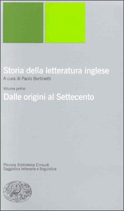STORIA DELLA LETTERATURA INGLESE DALLE ORIGINI AL SETTECENTO