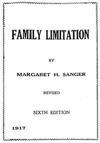 Family Limitation by Margaret Sanger