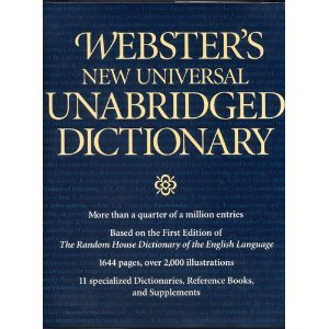 Websters New Universal Unabridged Dictionary