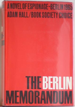 The Berlin Memorandum by Adam Hall
