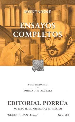 Ensayos Completos (Sepan Cuantos, #600)
