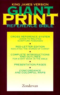 Personal Size Giant Print (11.5 point type) Reference Bible: King James Version (KJV), imitation black leather, words of Christ in red, with concordance