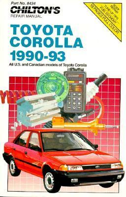Chilton's Toyota Corolla 1990 93 Repair Manual