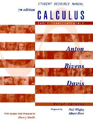Calculus, Early Transcendentals Brief Edition, Student Resource Manual