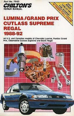 Chilton's Repair Manual: Lumina/Grand Prix, Cutlass Supreme Regal 1988-92