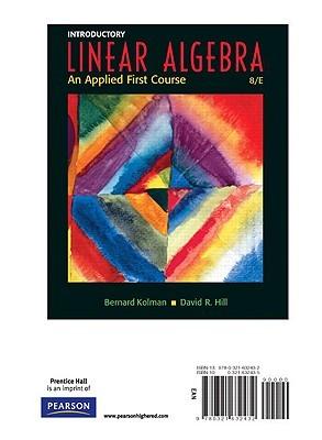 introductory linear algebra an applied first course by bernard kolman rh goodreads com Linear Math Problems Solving Linear Equations Worksheets