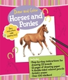Draw and Color: Horses and Ponies