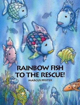 Cartoon striped rainbow fish