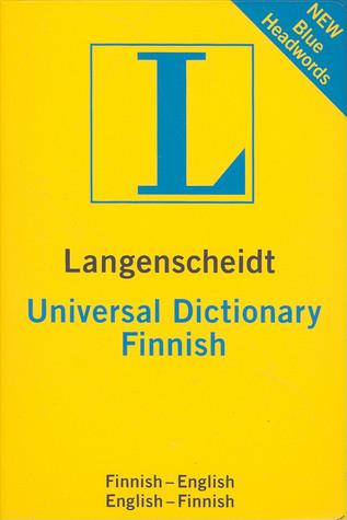 Langenscheidt Universal Finnish Dictionary: Finnish-english/ English-finnish