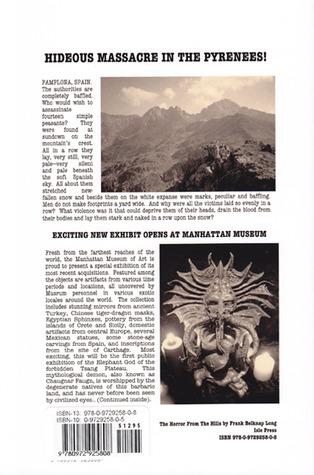 The Horror from Hills by Frank Belknap Long